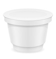 plastic container of yogurt or ice cream 04 vector image