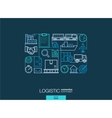 Logistic integrated thin line symbols Modern vector image