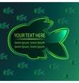 Fish frame template vector image