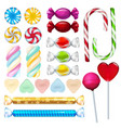 realistic of sweets and candy vector image