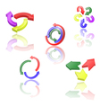 Set of icons or abstract designs - 3d arrows vector image