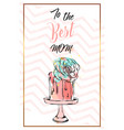 hand drawn abstract greeting card with to vector image