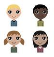 cartoon children set of avatar vector image