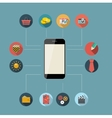 Flat Design Concept Mobile Phone Apps vector image vector image