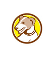 Jack Russell Terrier Head Circle Cartoon vector image vector image