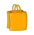 Bag with handles icon cartoon style vector image