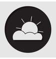 information icon - partly cloudy vector image