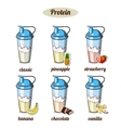 Different Protein Coktails vector image