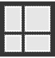 Blank Postage Stamps Set on Dark Background vector image