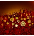 christmas red greeting card eps 8 vector image