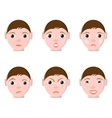 Different Human emotions vector image