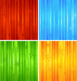 Four Christmas striped backgrounds vector image