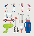 Golf Objects and Graphic Elements vector image