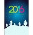 Happy New Year 2016 poster vector image