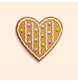 Heart shaped cookie vector image