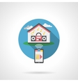 Home audio system round color detailed icon vector image