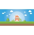 home or house insurance and protection vector image