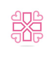 icon infinity love plus medical health vector image