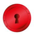 key hole red romantic icon vector image