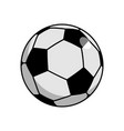 soccer ball isolated football on white background vector image