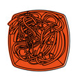 spaguetti or noodles food icon image vector image