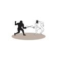 Swordsmen Fencing Isolated Cartoon vector image