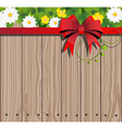 Wooden fence and chamomile vector image