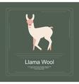 Logotype of llama vector image