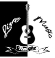 Black and white acoustic vector image vector image