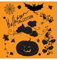 Set of fairy black halloween icons vector image