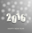 New Year card with abstract circles background vector image