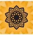 Elegant yantra-like pattern on yellow seamless vector image