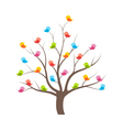 Birds on tree vector image