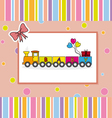 Children postcard of a train vector image
