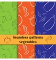 Collection of hand drawn seamless pattern cooking vector image