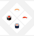 flat icon sashimi set of seafood gourmet vector image
