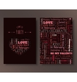 Invitation for St Valentines Day vector image
