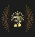 krishna janmashtami gold logo design vector image