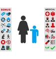 Mother With Son Icon vector image