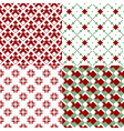 red and green patterns vector image