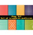 Stars Pop Art seamless pattern background Set vector image
