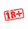 18 plus rubber stamp vector image