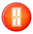 Glass door icon flat style vector image