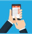 mobile application for calendar vector image