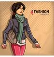 Elegant fashionable lady vector image
