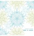 abstract plants mandalas frame corner pattern vector image