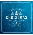 Merry Christmas greeting card lights and vector image