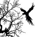 ara and tree black silhouette vector image