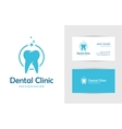 Dental clinic logo with tooth vector image vector image