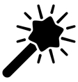 Wizard Wand Flat Icon vector image